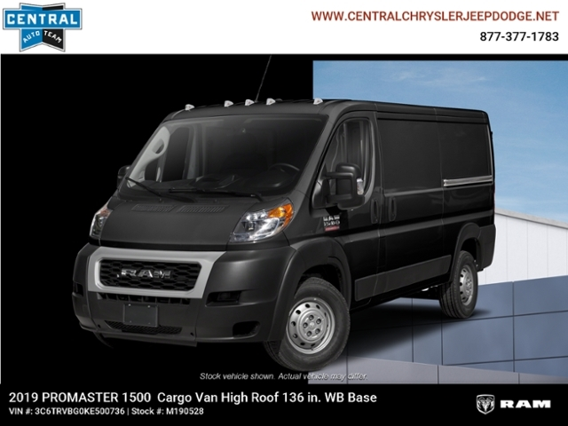 New 2019 RAM ProMaster Cargo 136 WB High Roof Cargo